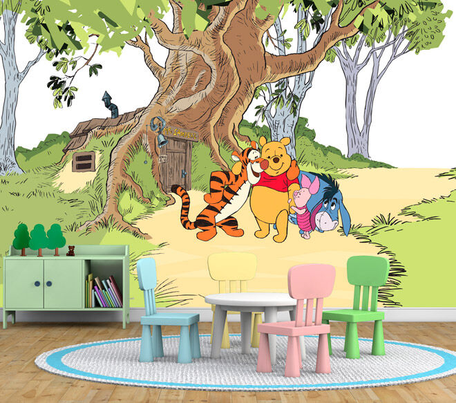 Winnie the pooh wall murals home design for Classic winnie the pooh wall mural