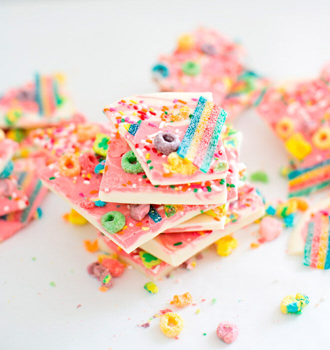 recipe rainbow unicorn bark