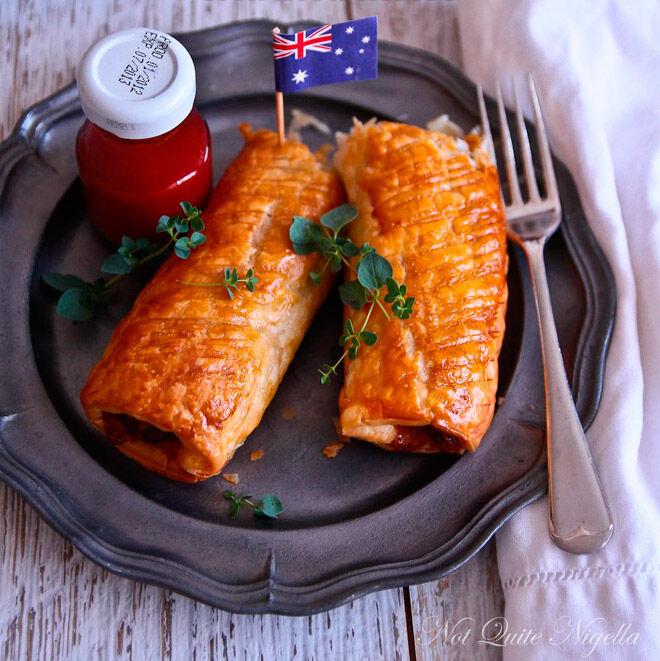vegemite cheese sausage roll australia day recipe