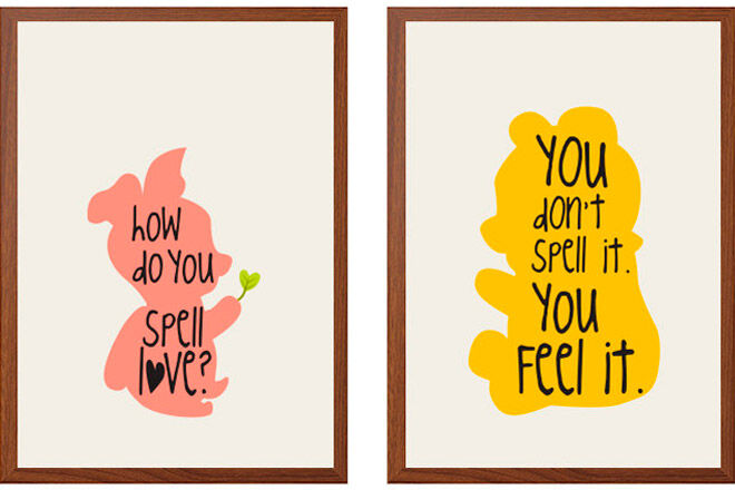 winnie the pooh quote art