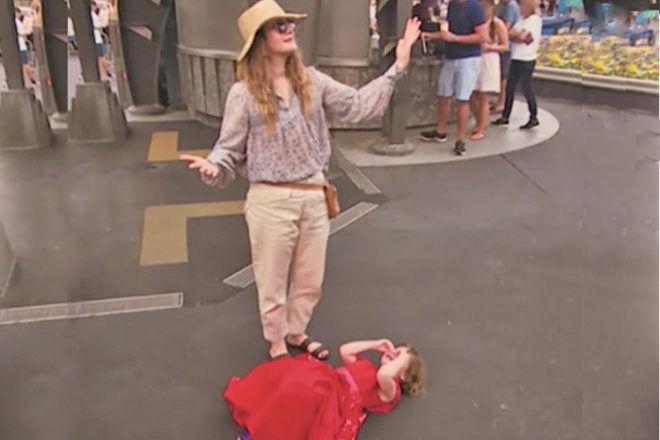 Drew Barrymore olive tantrum at disneyland