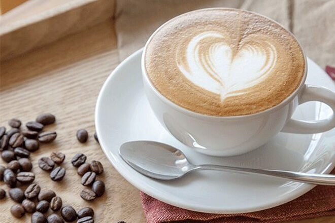 Coffee with heart STK