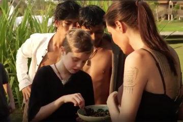 Shiloh Jolie-Pitt eats bugs