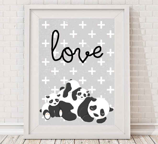 Valentine's Day - Bespoke Moments Panda Love Family Print