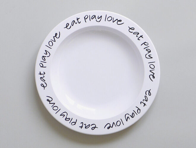 Valentine's Day - Buddy Bear Eat Play Love Plate