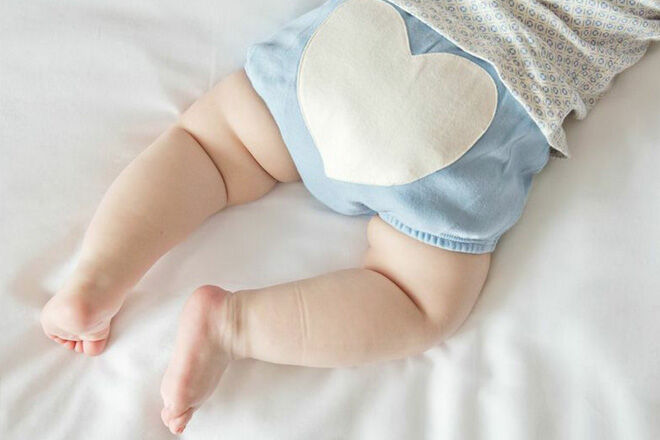 Sapling Child Blue Heart bloomers