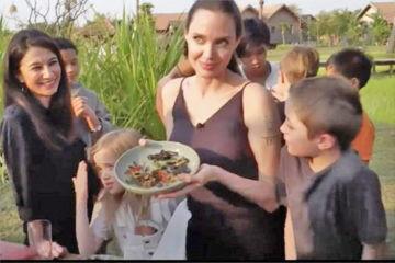 Angeline serves kids bugs