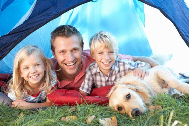autumn outdoor activities kids camping