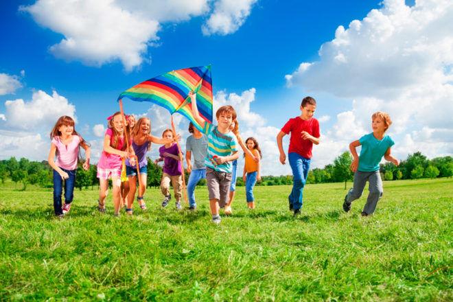 autumn outdoor activities kids kite