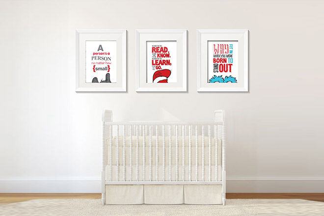 Favourite Seuss Quotes Are The Inspiration For Some Whimsical Wall Art For  The Nursery Or Play Room. Both Sets Of Four DIY Digital Prints ($15) Can Be  Found ...