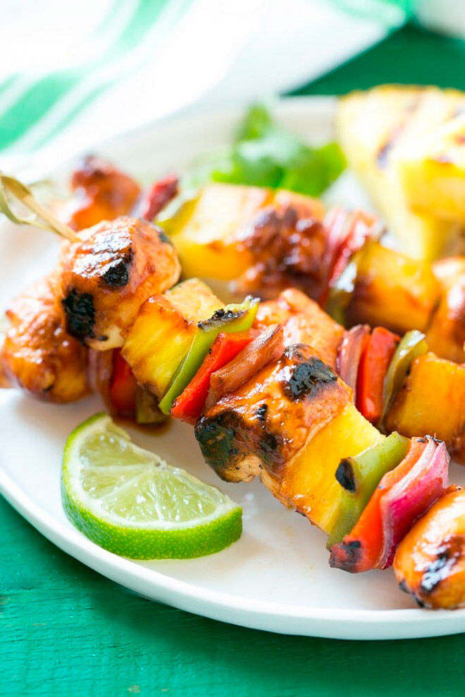 Hawaiian Chicken Kabobs Camping Food Kids