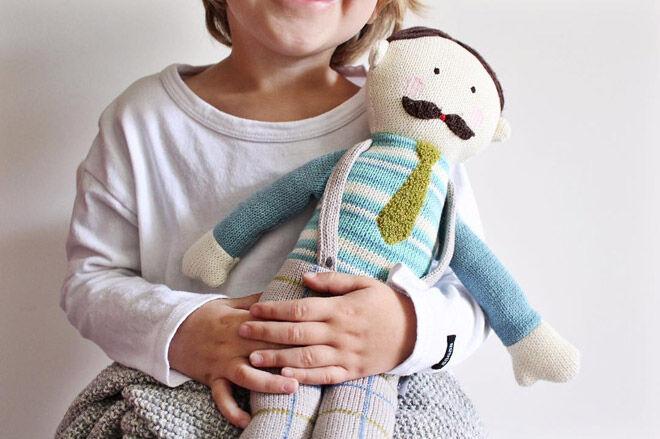 nana huchy papa knit doll