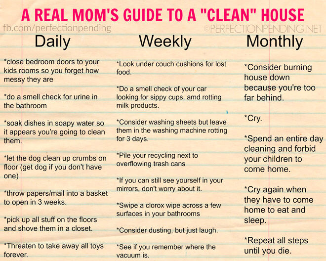 real mum guide to cleaning house