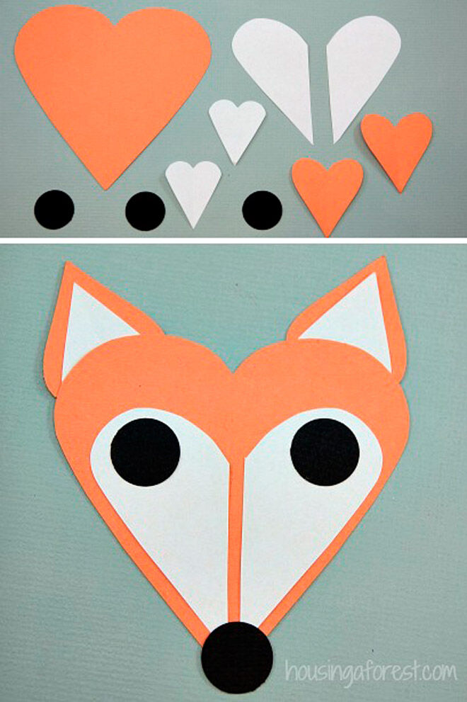 valentines day fox heart