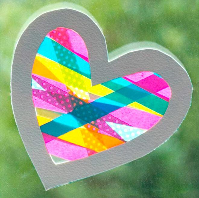 valentines day sun catcher heart
