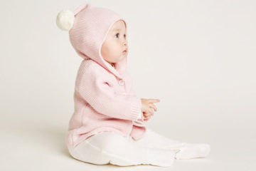 Wilson and Frenchy knitted pom-pom baby jacket