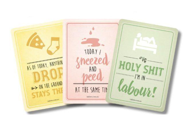 cool pregnancy milestone cards