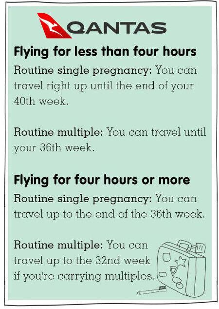 Qantas pregnancy and domestic plane travel tips
