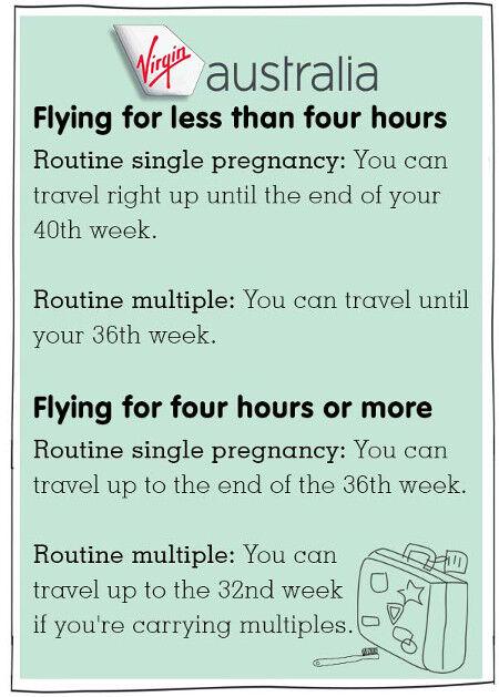 virgin Australia pregnancy and domestic plane travel tips