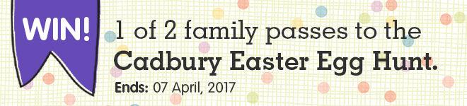 Win tickets to Cadbury Easter Egg Hunt
