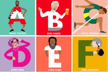 Aussie legends alphabet poster