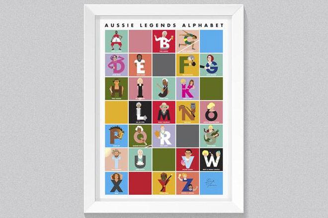 Alphabet Aussie Legends poster
