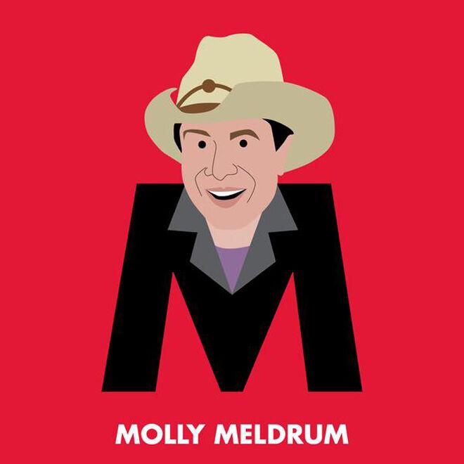 Molly Meldrum Aussie icons alphabet