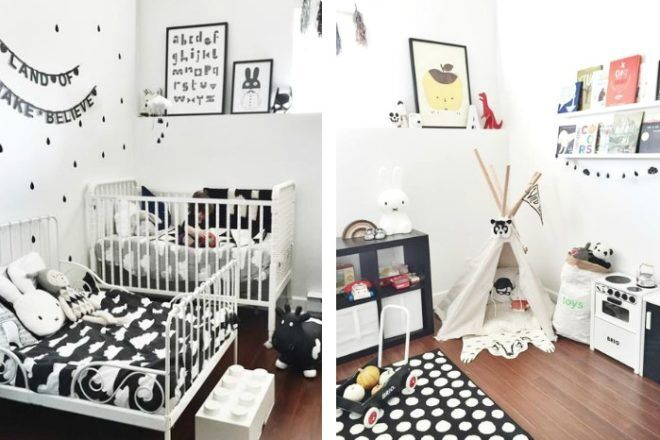 Miranda Designed Her Sons Aki And Archeru0027s Room Using The Classic Monochrome  Furnishings, Including An Ikea Bed And Wall Decor She Discovered On EBay.