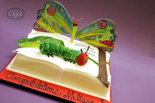 book cake eric carle very hungry caterpillar