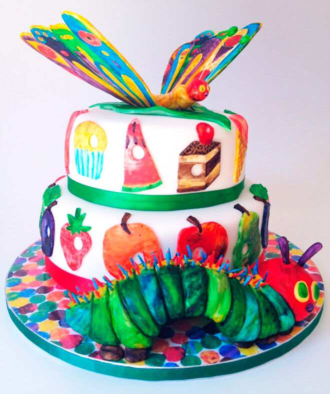 elaines sweet life very hungry caterpillar cake eric carle