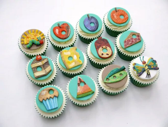 eric carle cake cupcake very hungry caterpillar