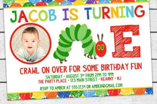 very hungry caterpillar party invitation