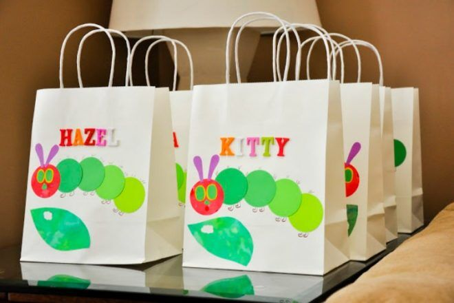 very hungry caterpillar party bags