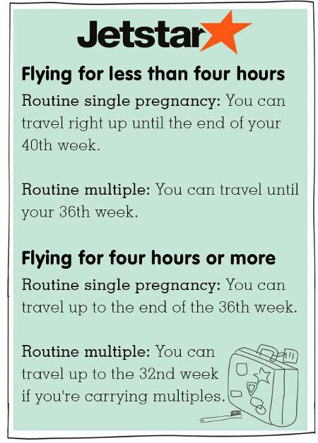 Jetstar pregnancy and domestic plane travel tips