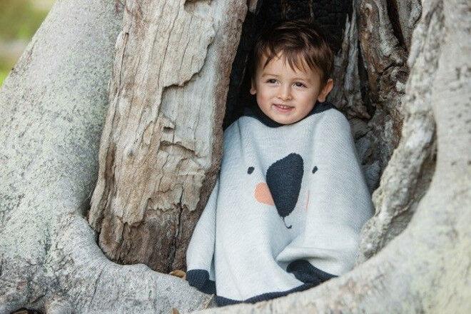 Eco Peko merino koala poncho