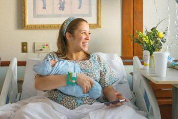 Modmom Etsy maternity hospital gown