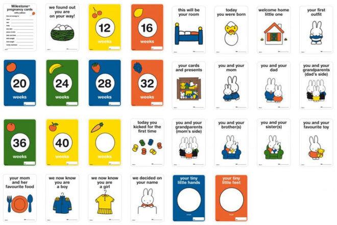 Miffy Pregnancy milestone cards