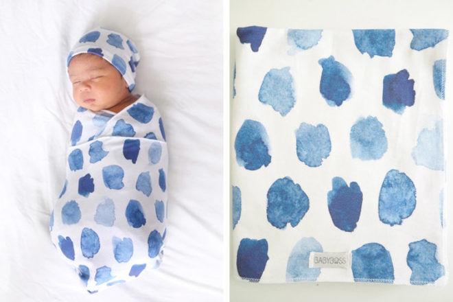 Baby Boss Ocean Skies cotton jersery Baby Wrap