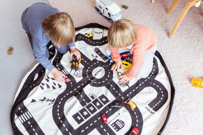 Play and Go roadmap car play mat toy storage bags