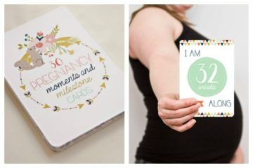 9 pregnancy milestone cards