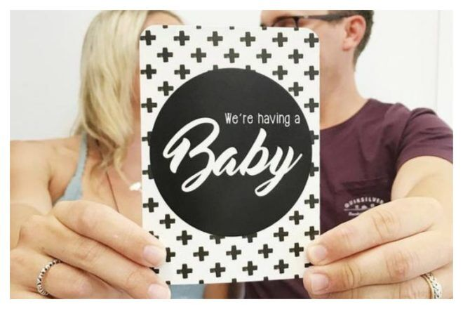 we're having a baby cool pregnancy milestone cards