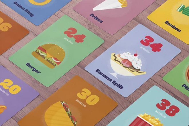 junk food pregnancy milestone cards