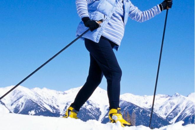 Pregnant Skier