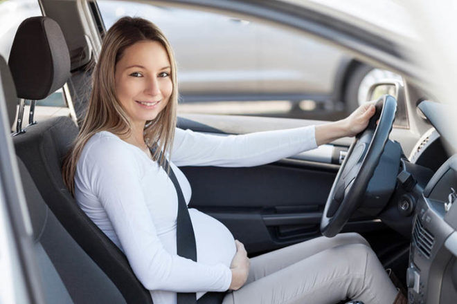 driving car okay when pregnant