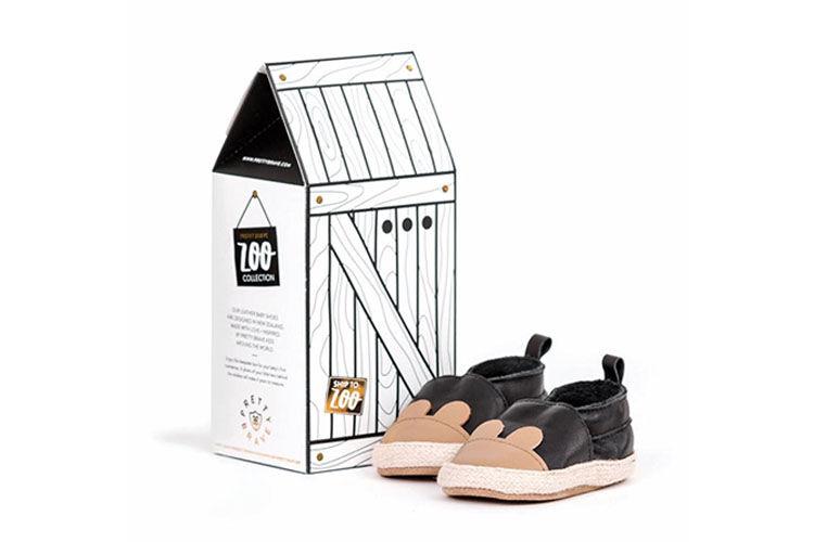 Pretty Brave baby shoes keepsake gift box rabbit shoes