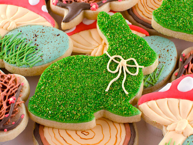semi sweet easter bunny cookie