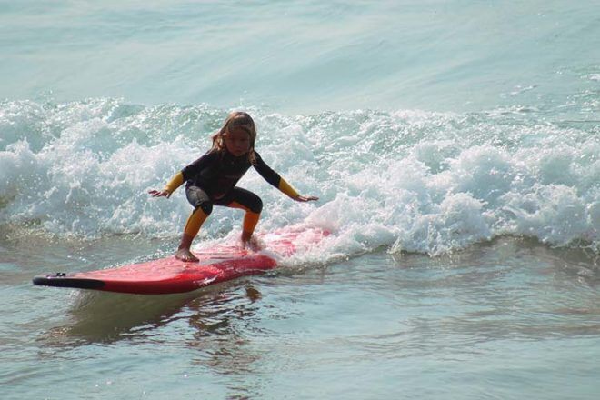 school holidays learn to surf