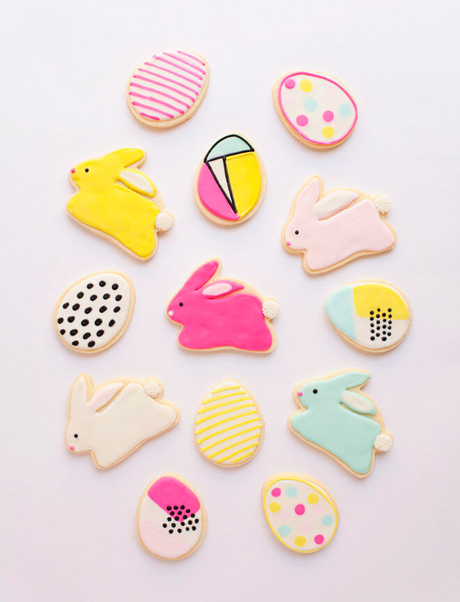 tell love and party easter cookies