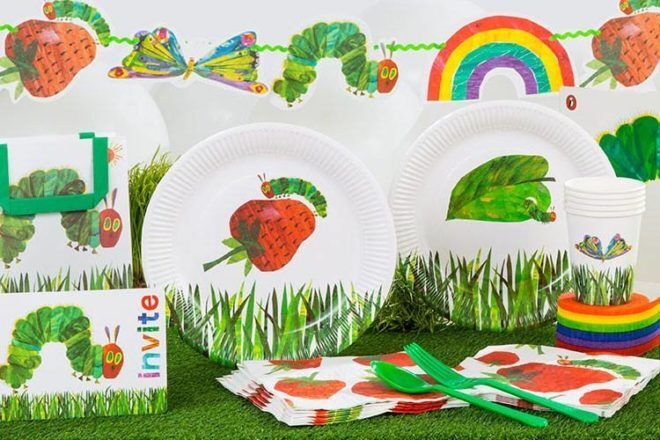 very hungry caterpillar party partyware