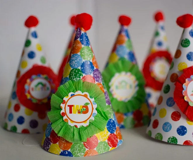 very hungry caterpillar party hats